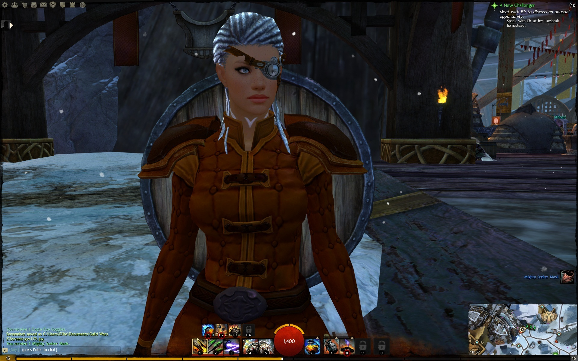 Magnuss Right Eye Patch medium skin - Guild Wars 2