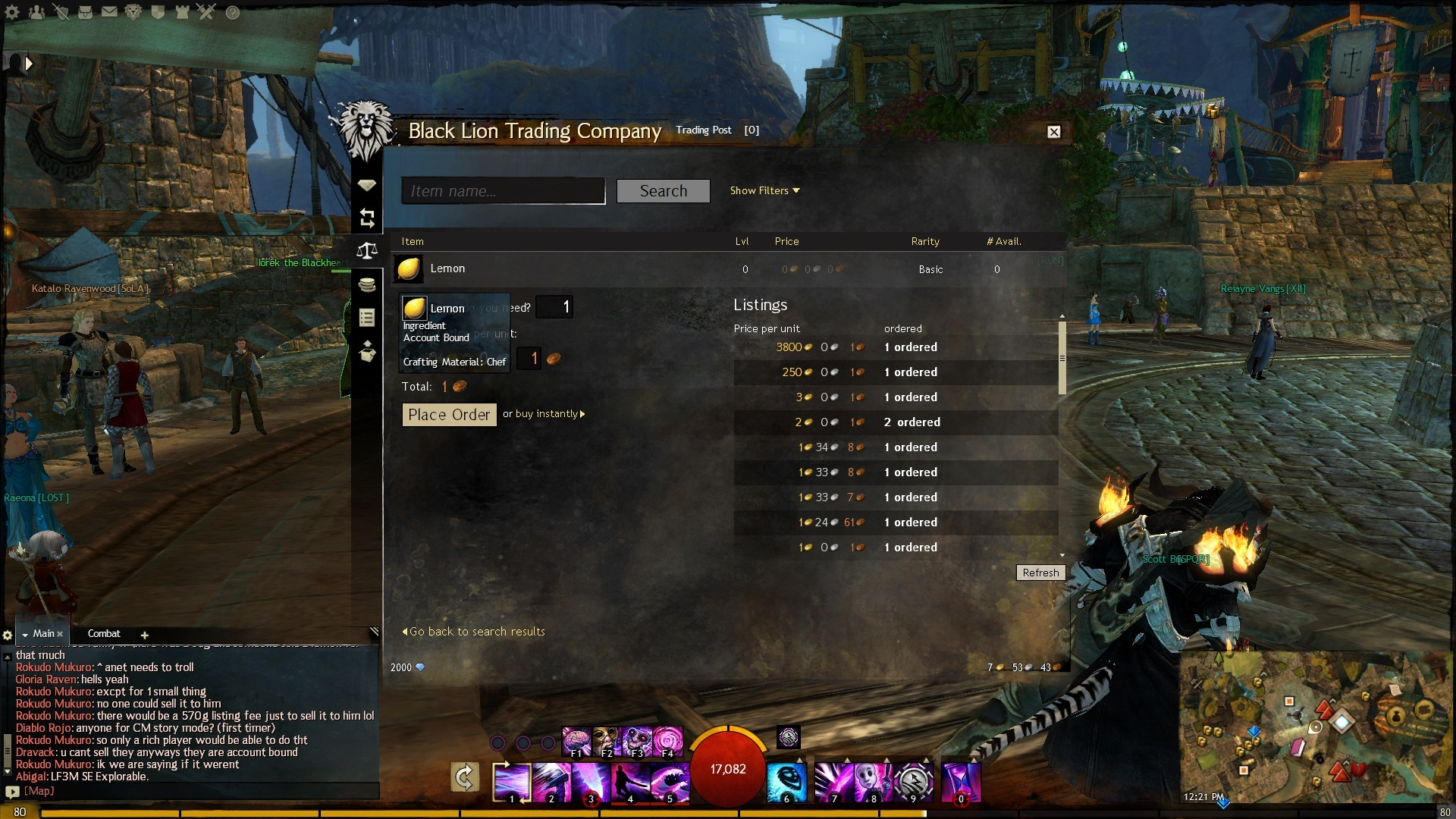guild wars 2 forum - black lion trading co - that's a rare sight.