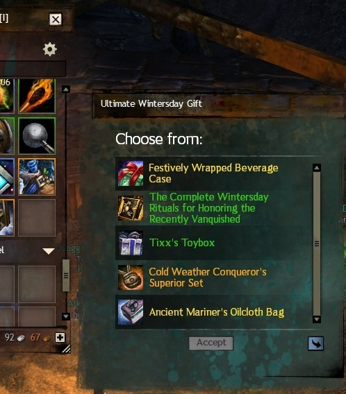 Ultimate wintersday Gift from PVP reward track guarantees new exotic