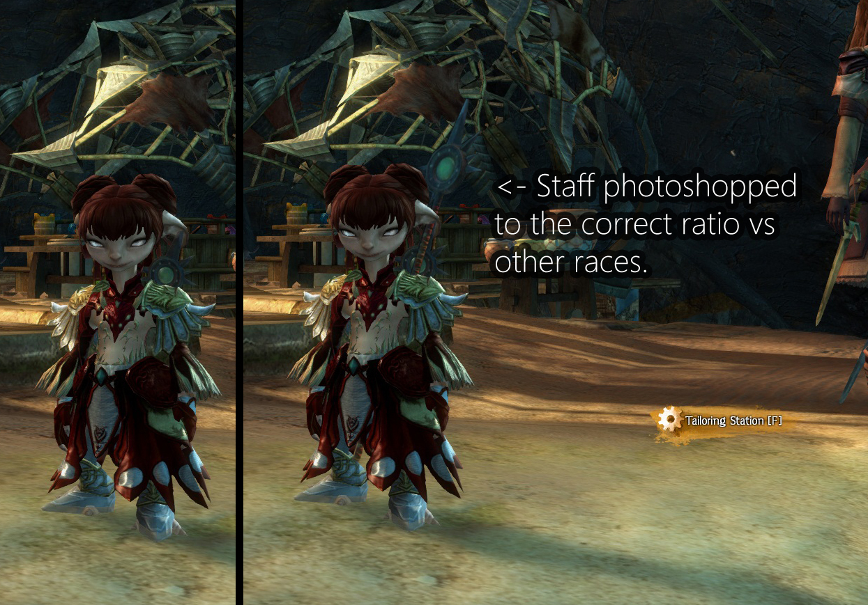 Guild Wars 2 Forum - Asura - One problem with Asura... Tiny weapons!