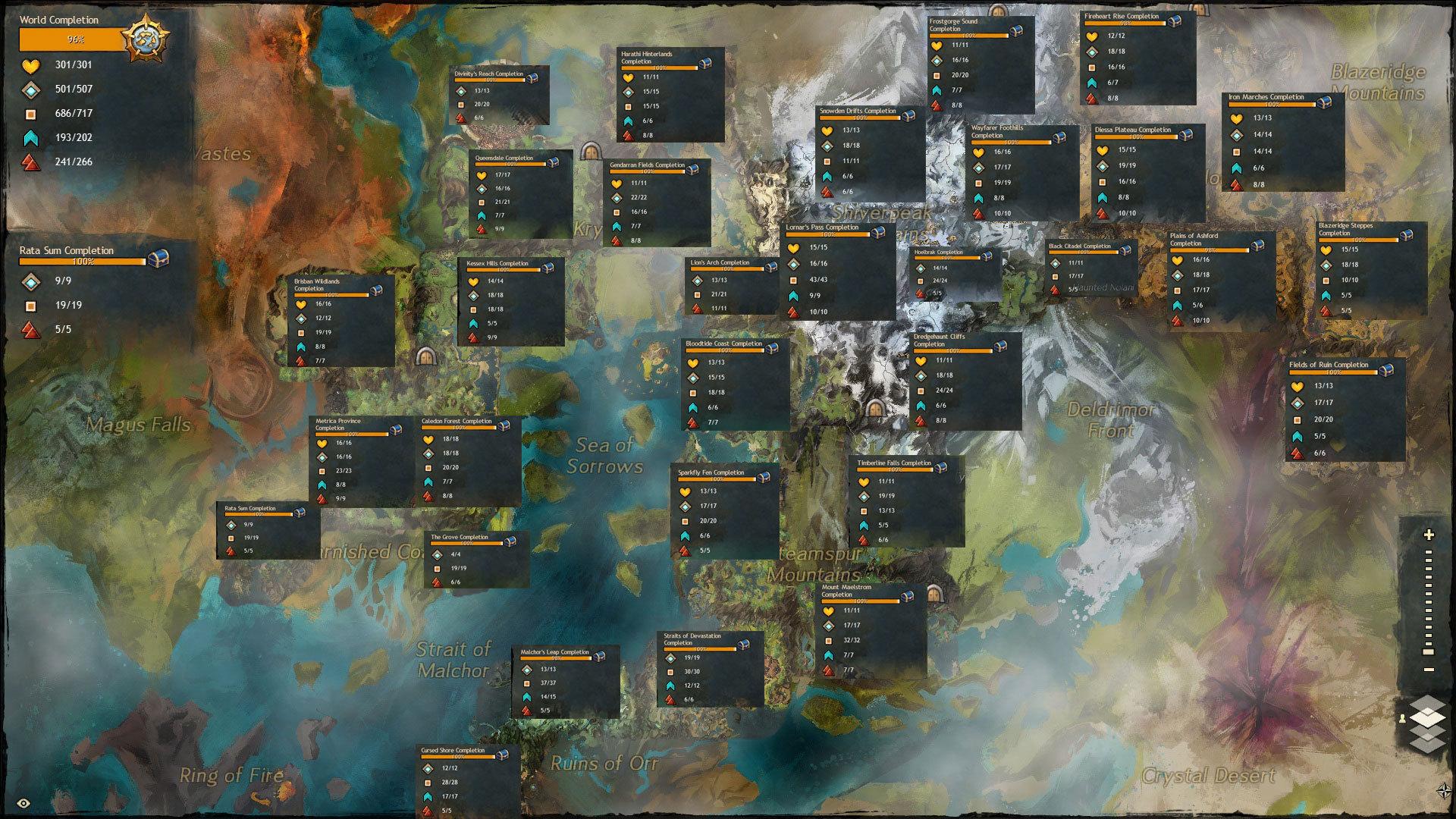 Gw2 Karte.Gw2 Map Completion World Map 07